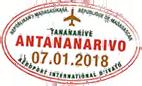 Tampon passeport visa Madagascar