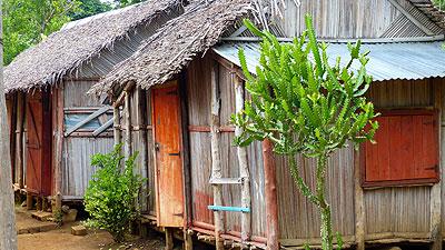 Maison traditionelle malgache.