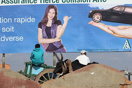 Affiche publicitaire à Madagascar.