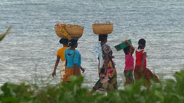 Ile de Nosy Be à Madagascar.