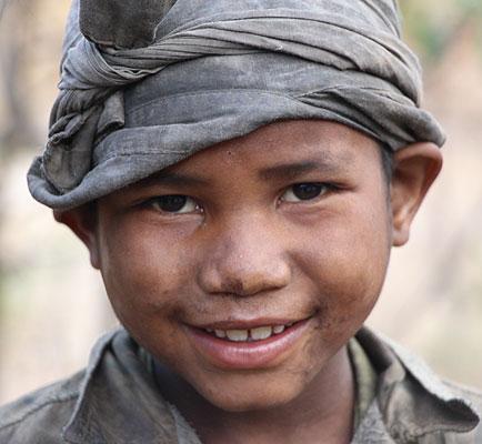 Jeune enfant malgache.