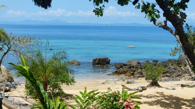 Plage paradisiaque à Madagascar.